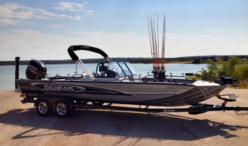 Steve Brown, catfish guide from Warsaw, Missouri: You can catfish from any boat, but the poorest design for catfish boat is a bass boat. You sit on top of a bass boat rather than down in it. For stability and a lot of other reasons, I like to sit in a catfish boat.