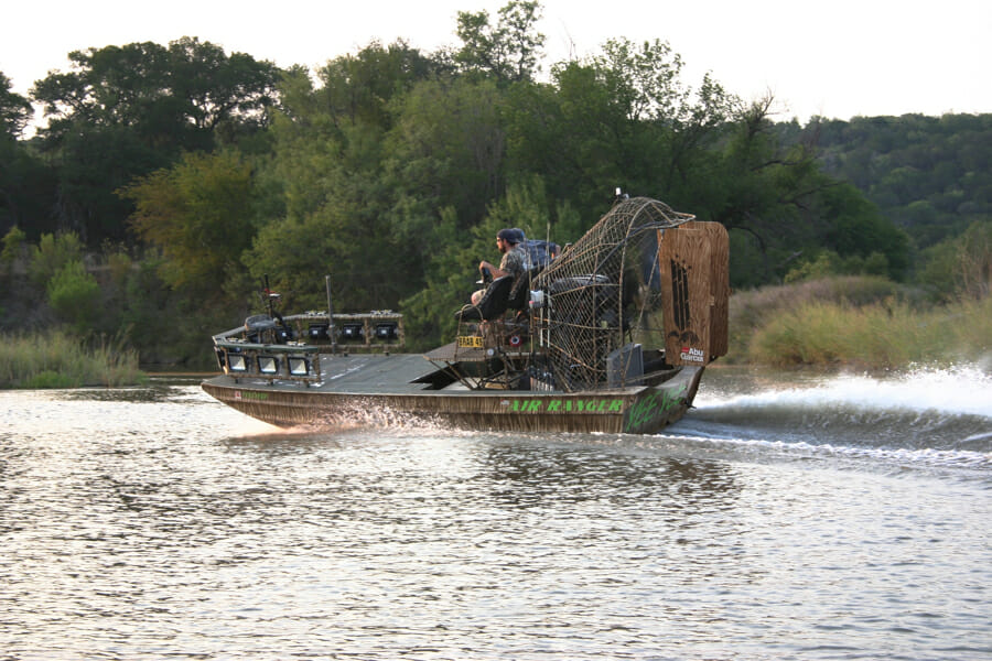 North Texas Catfish Guide Airboat Trips